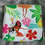 Hawaiian Hula Girl Large Clutch Summer Purse
